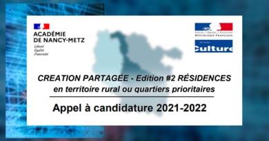 Appel à candidature 2021-2022 – Résidences Création Partagée
