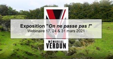 Exposition «On ne passe pas !» – Webinaire 17, 24 & 31 mars 2021 – Mémorial de Verdun