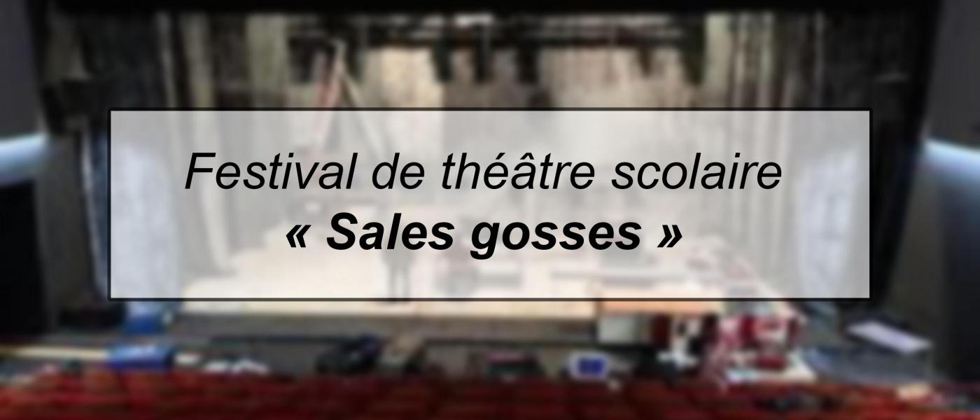 Festival de théâtre scolaire «Sales Gosses!»
