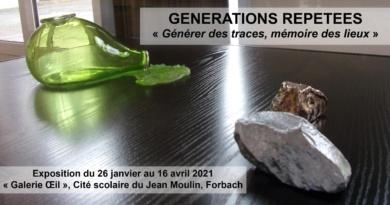 GENERATIONS REPETEES – « Générer des traces, mémoire des lieux »