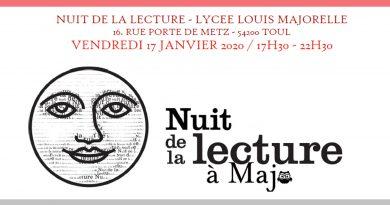 La nuit de la lecture au Lycée Louis Majorelle