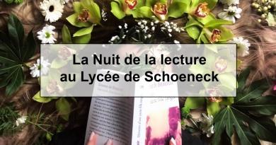 La Nuit de la lecture au Lycée de Schoeneck