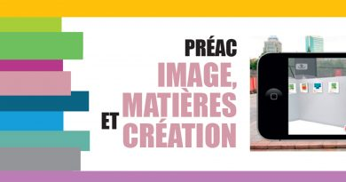 PREAC «Image, matières et création» – mercredi 25 et jeudi 26 mars 2020