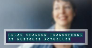 PREAC «Chansons Francophones et Musiques Actuelles»